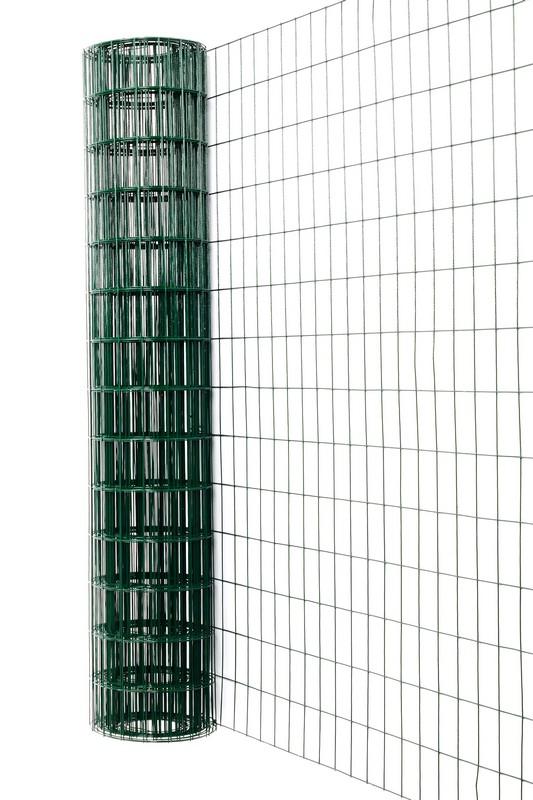 Сетка сварная с ПВХ 50х100 мм., h 1,5 м. - фото 1
