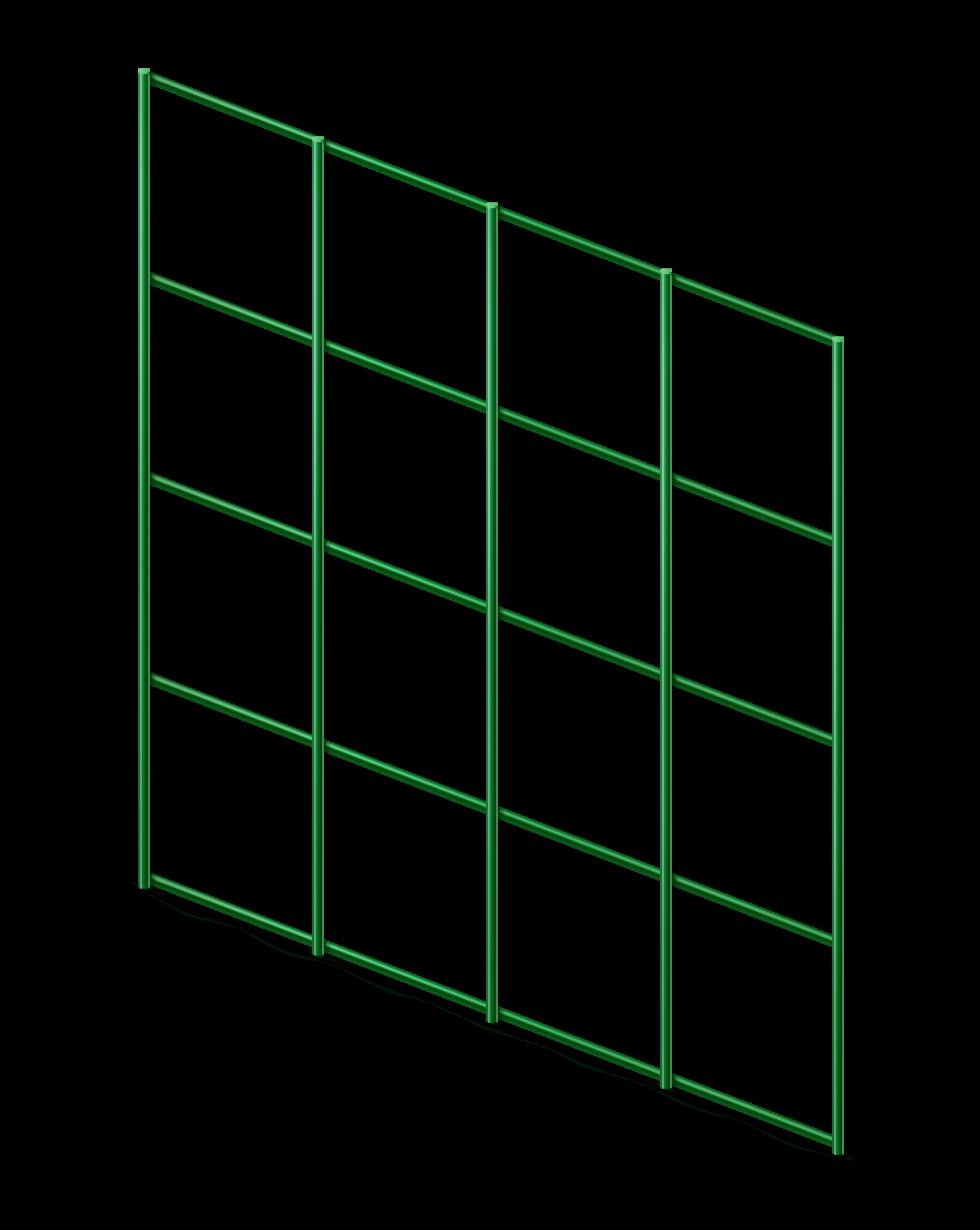 Сетка сварная с ПВХ 50х50 мм., h 1,5 м.