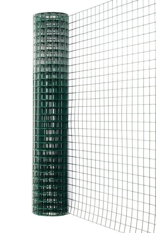 Сетка сварная с ПВХ 50х50 мм., h 1,5 м. - фото 1