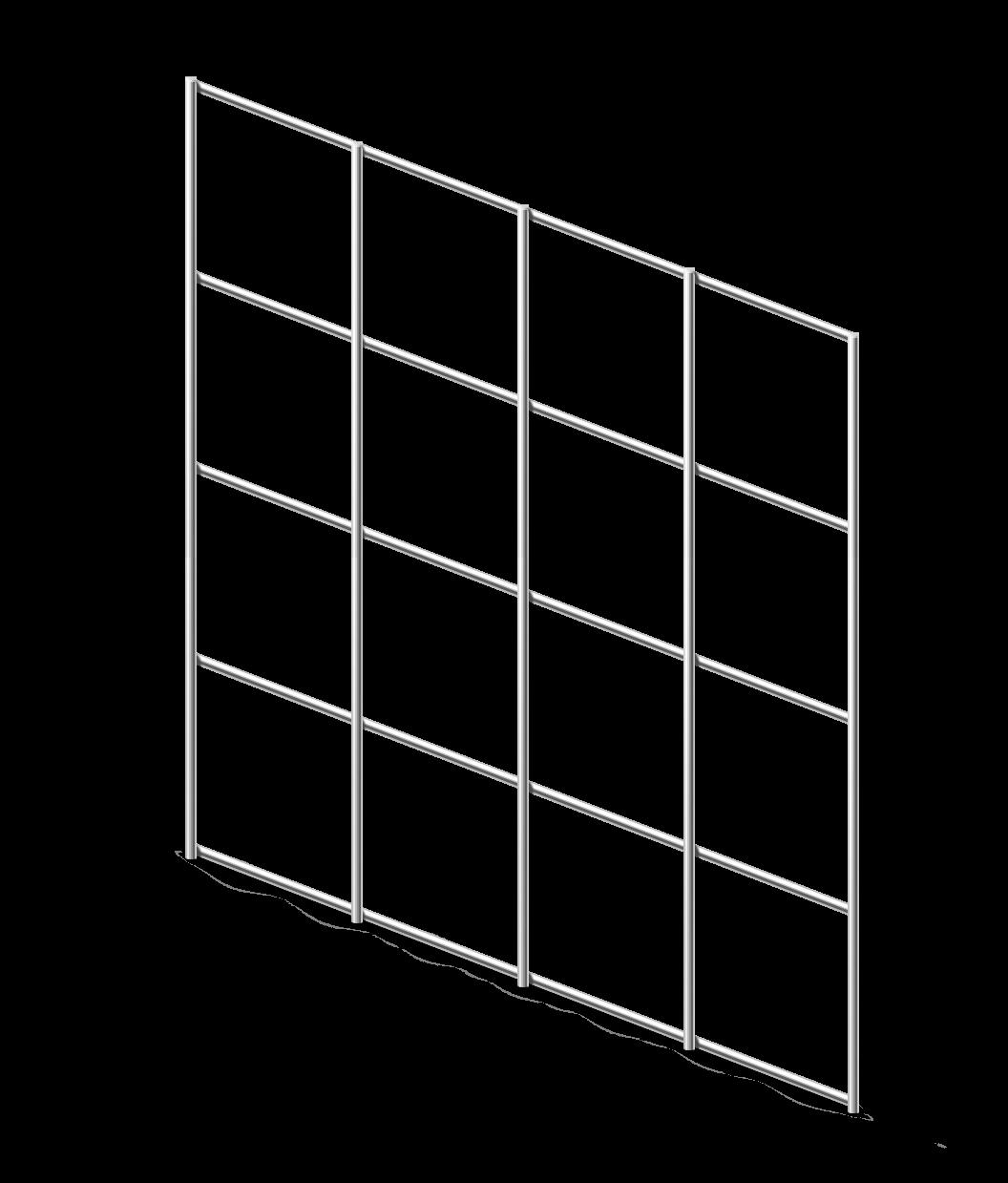 Сетка сварная ОЦ 50х50 мм., d 1,6 мм., 0,5 м.