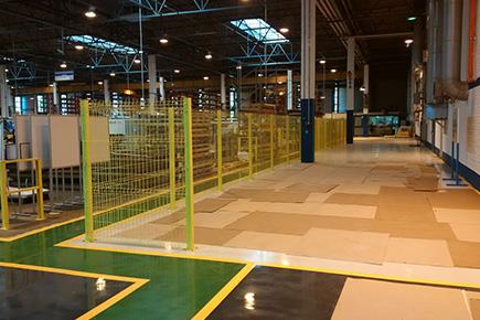 Ограждение зоны испытаний завода по производству лифтов Отис
