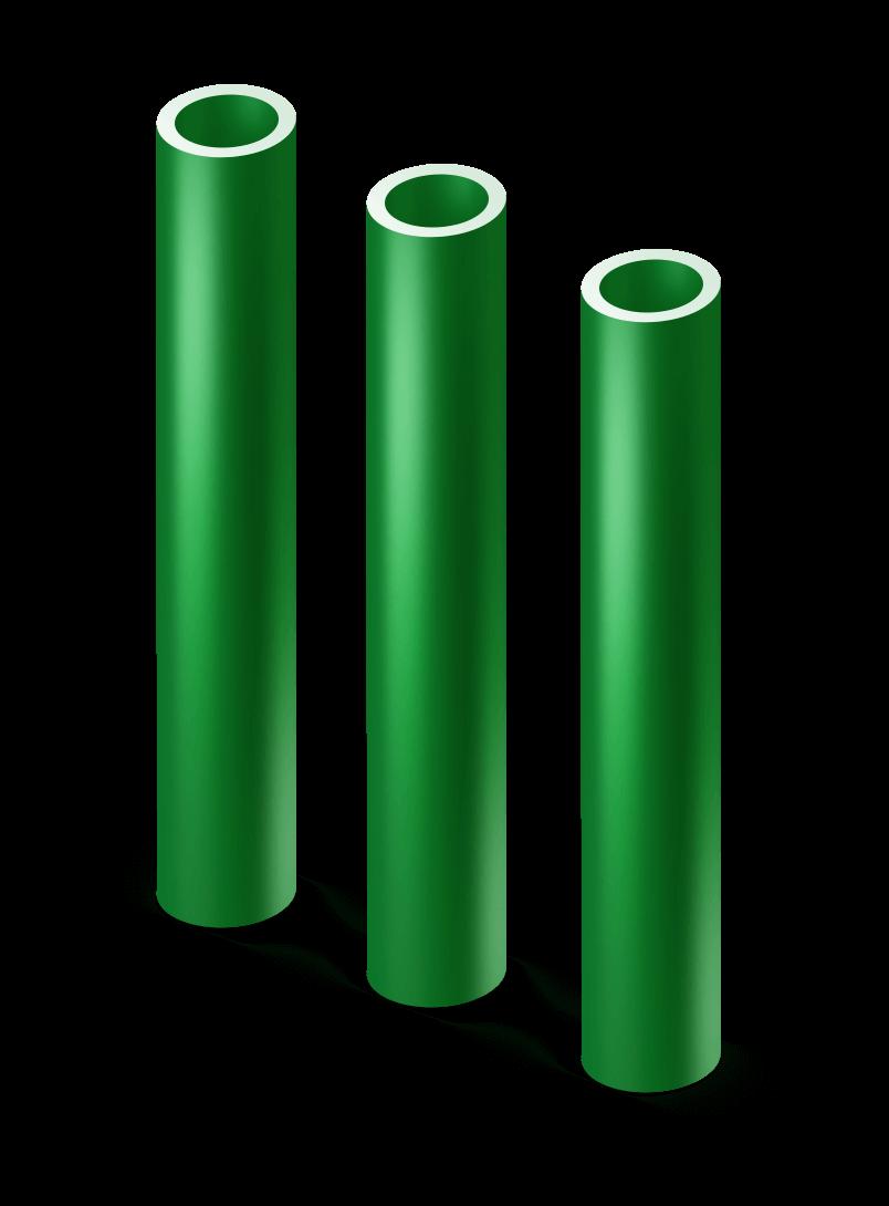 Столб круглый с ПВХ d 76 мм.