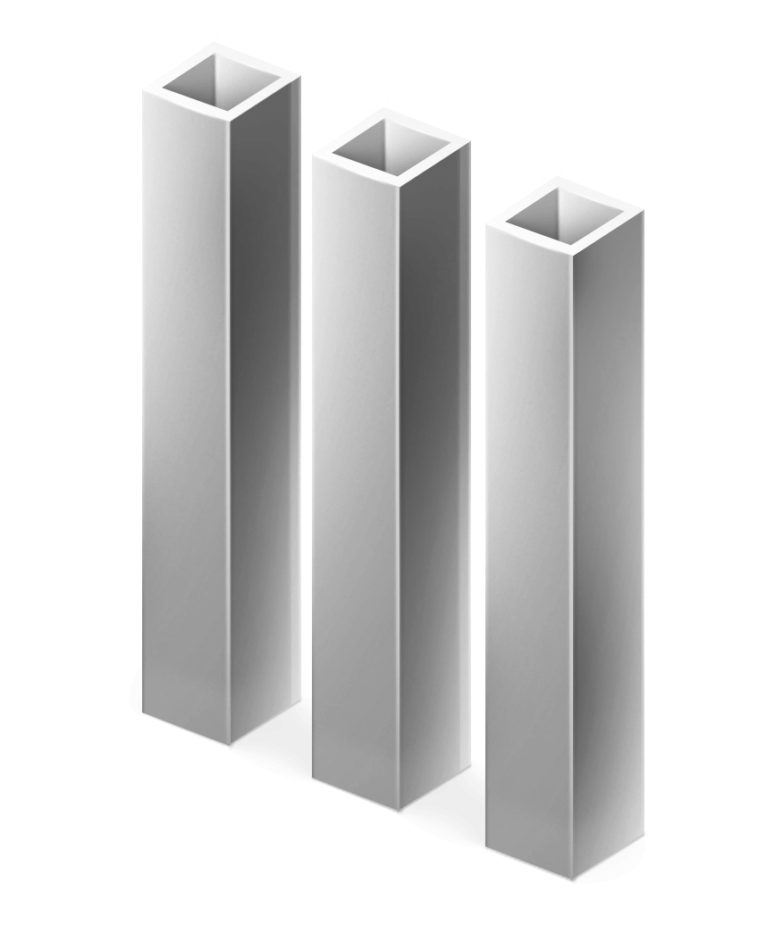 Столб квадратный грунт 40х40 мм.